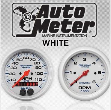 Autometer white gauges
