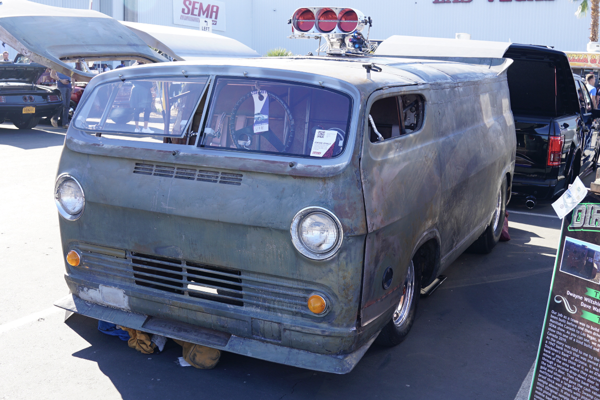 Jack gilbert's chevy van at auto show