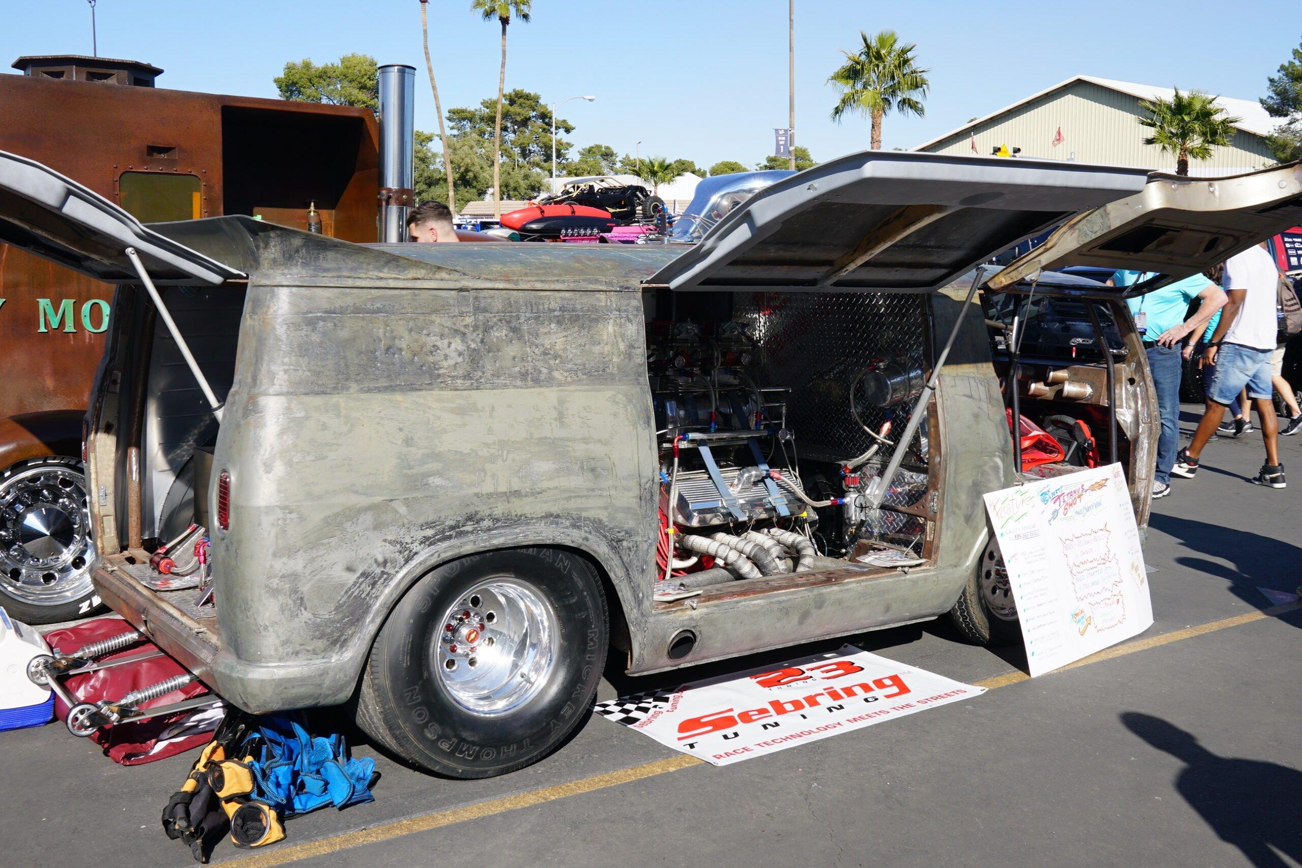 JACK GILBERT JR.'S CHEVY VAN at auto show
