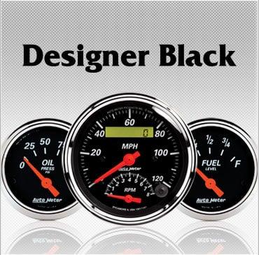 Designer Black gauges