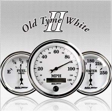 Old Tyme White 2 gauges