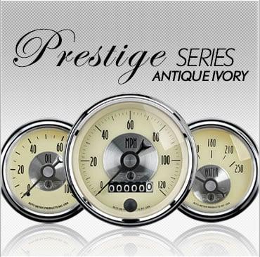 Prestige Series Antique Ivory gauges